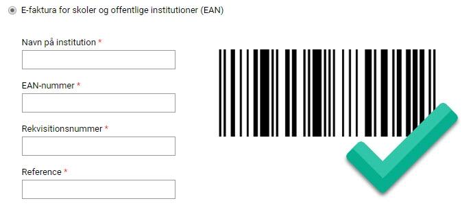 Betaling med EAN